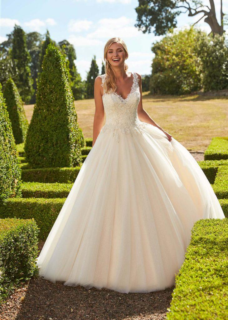 Satin Bow Wedding Dresses